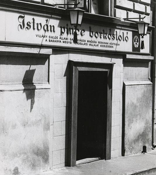 Az István Pince 1966-ban (Csorba Győző Könyvtár Helyismereti Gyűjteménye)